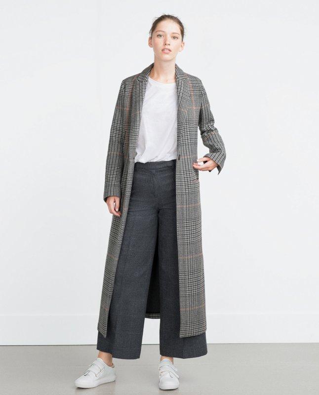 Gansoverjas met grijze print en culottes