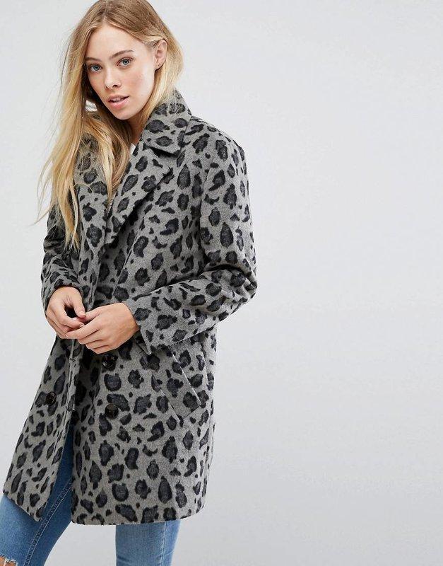Grijze luipaard jas
