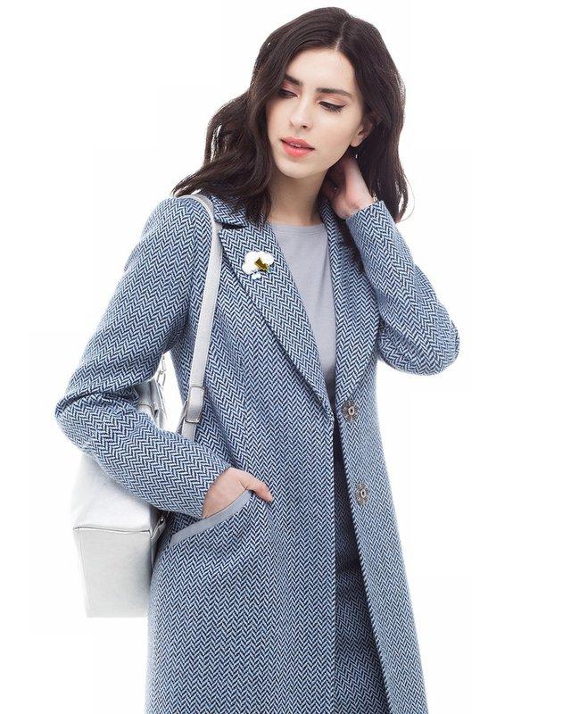 Grijze tweed jas