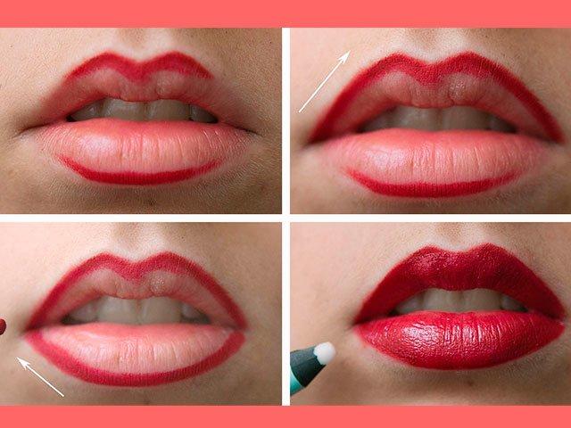 hoe make-up lippen
