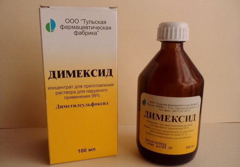 Dimexide in farmaceutische verpakkingen