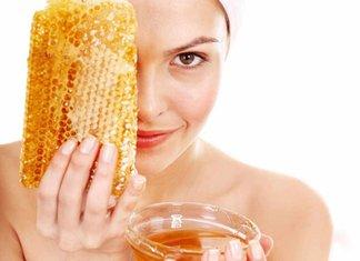Gezichtsmasker met honing