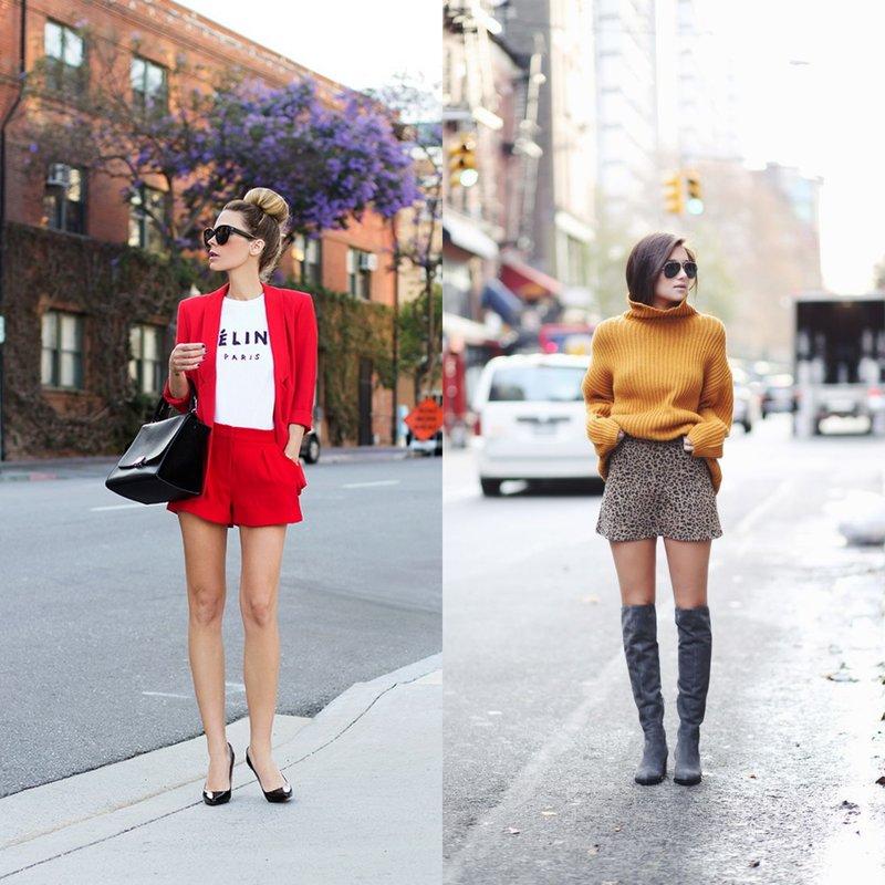Stilingi pavasariniai lankai šortuose.