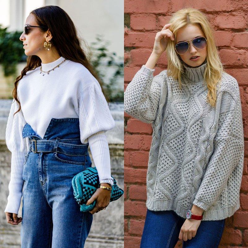 Madingi negabaritiniai megztiniai pavasariui