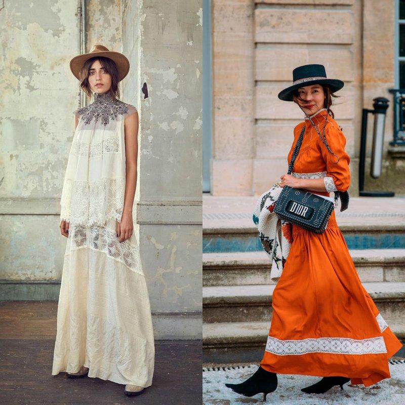 Ilgos boho stiliaus suknelės