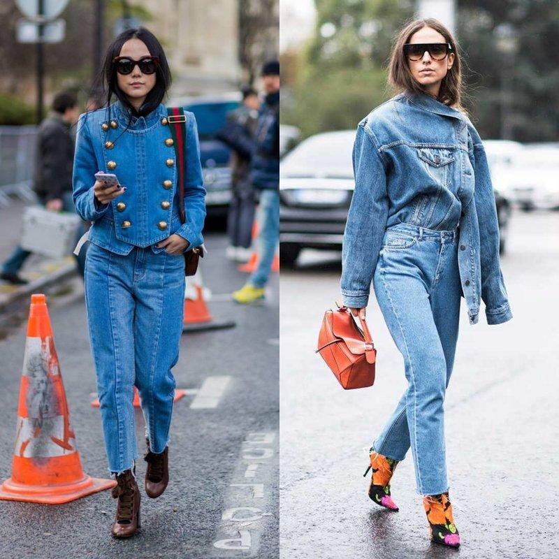 Madingi vaizdai džinsuose.