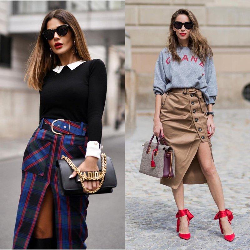 Asimetriniai elegantiški sijonai