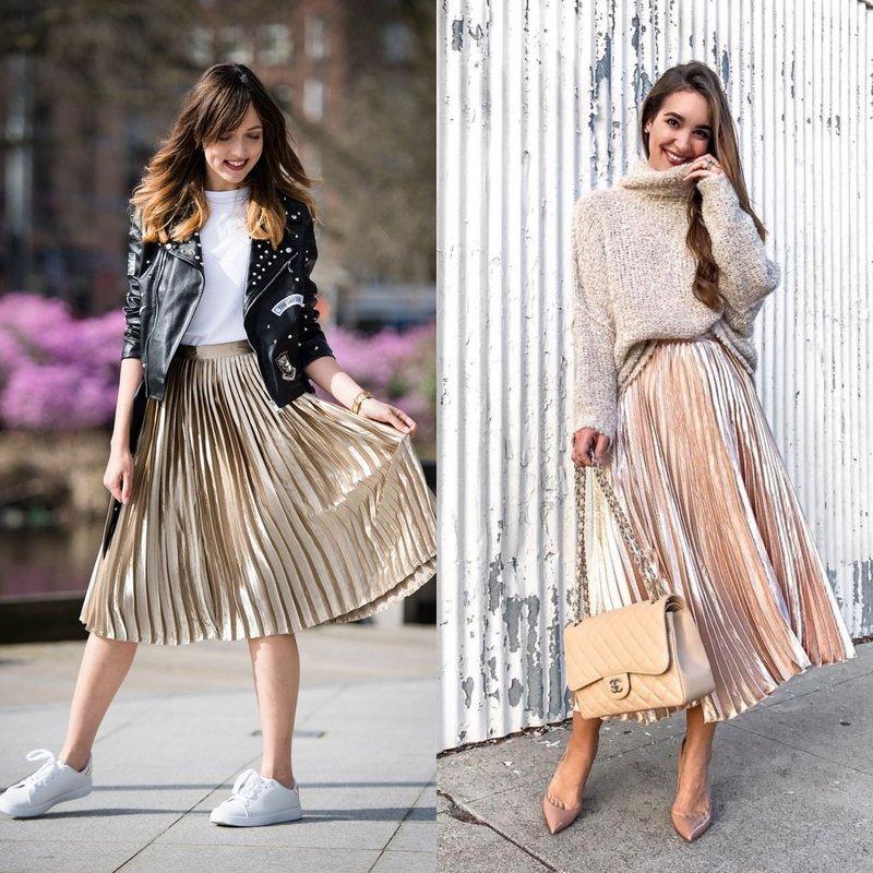 Blizgantys sijonai: pavasario-vasaros tendencija