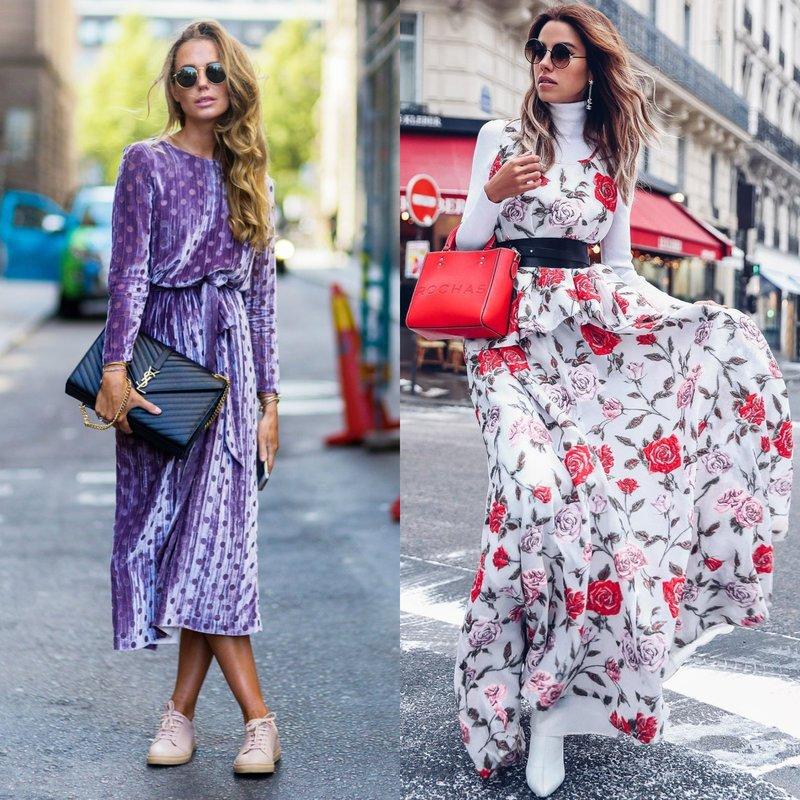 Ilgos suknelės pavasarį-vasarą: naujas 2019 m