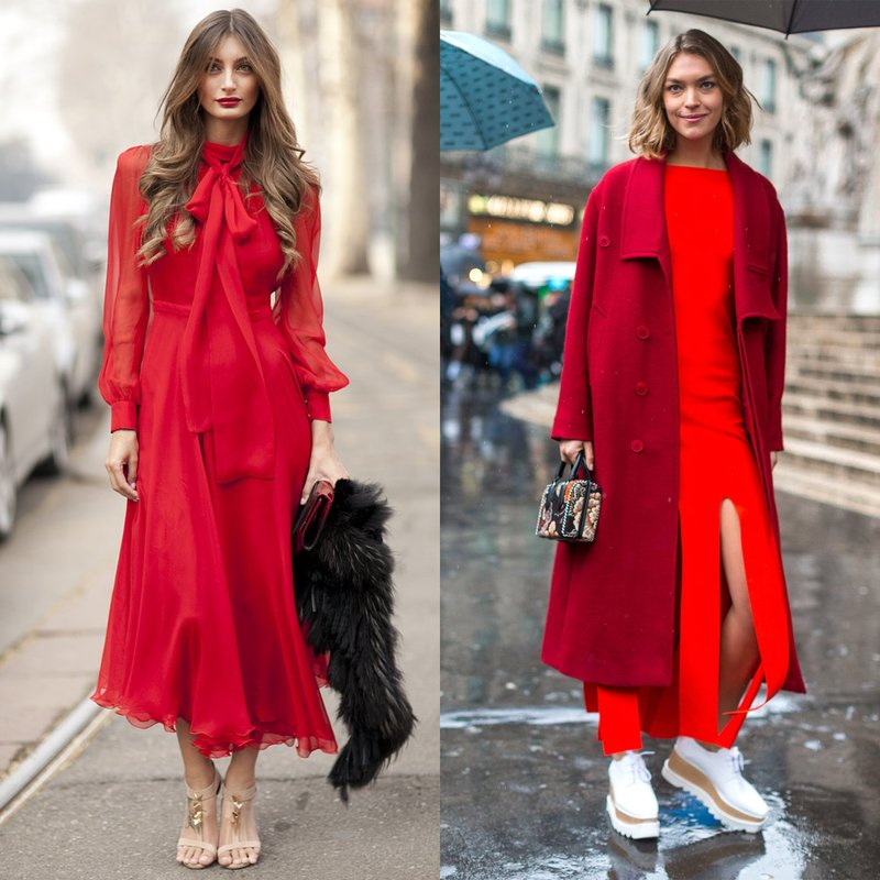 Pavasariškas žvilgsnis į ilgą raudoną suknelę