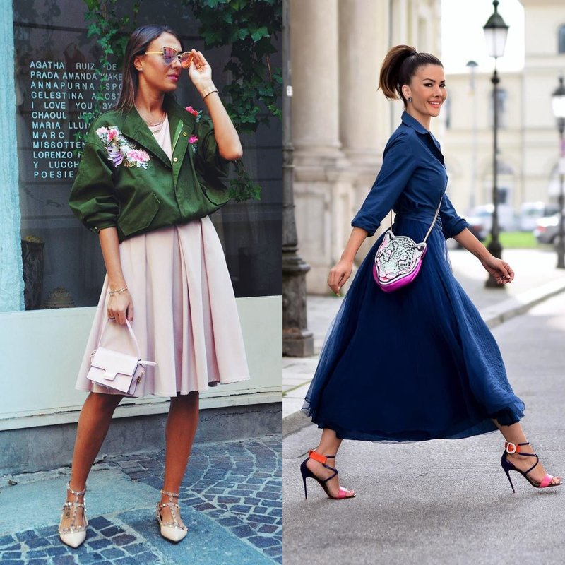 Stilingi pavasario įvaizdžiai sijonuose