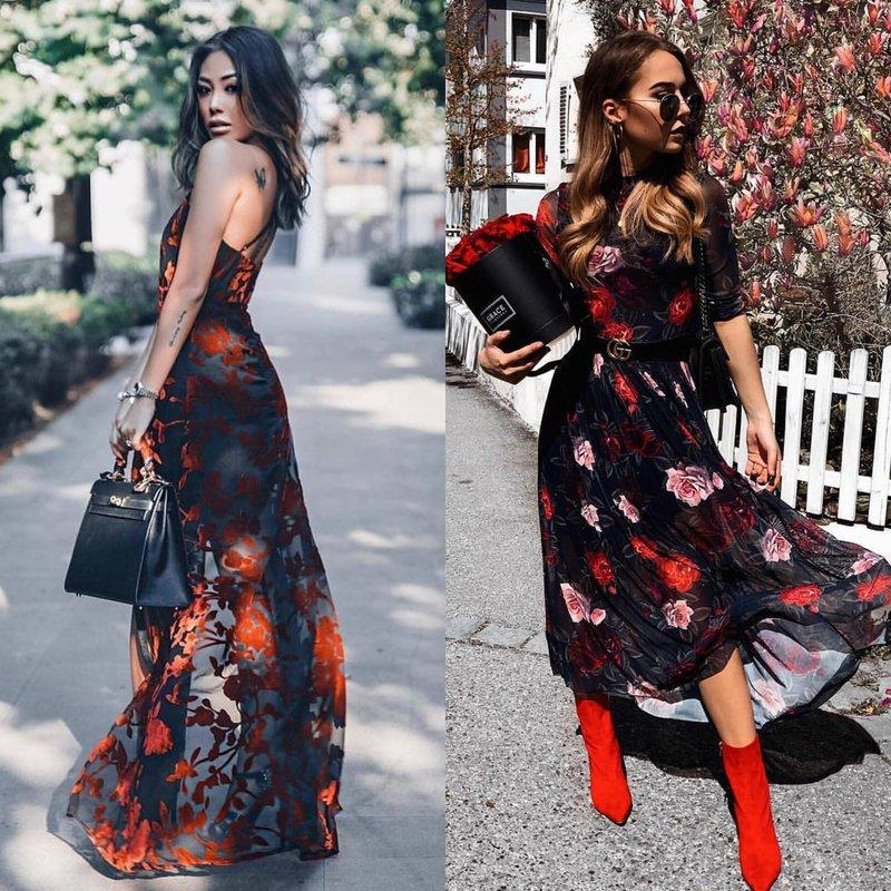 Stilingas pavasario lankas: merginos suknelėse
