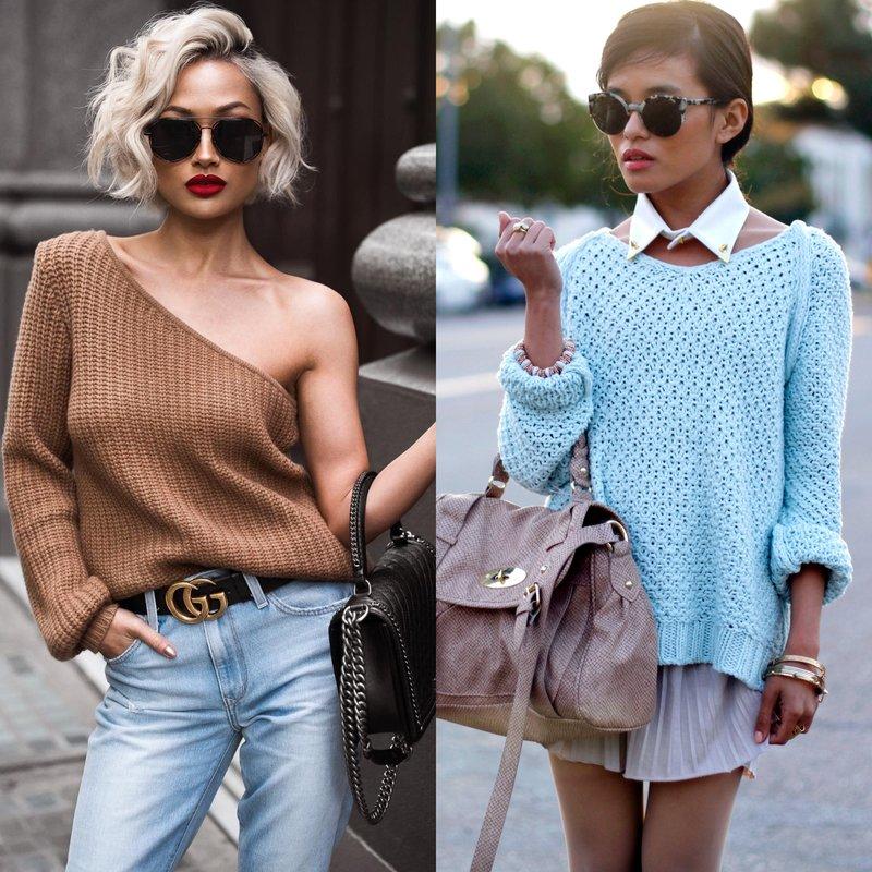 Stilingi lankai pavasariui megztinyje