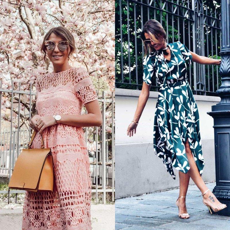 Subtiliai atrodo pavasarinės suknelės