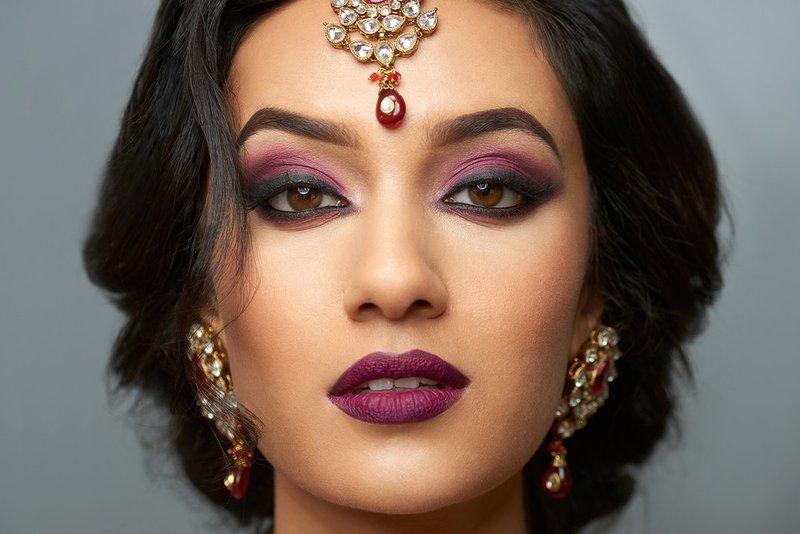 Oosterse make-up voor bruine ogen