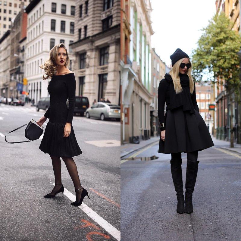 Stilingos merginos juodai