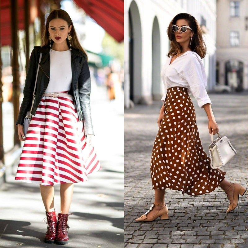 Pavasario-vasaros sijonai su atspaudais