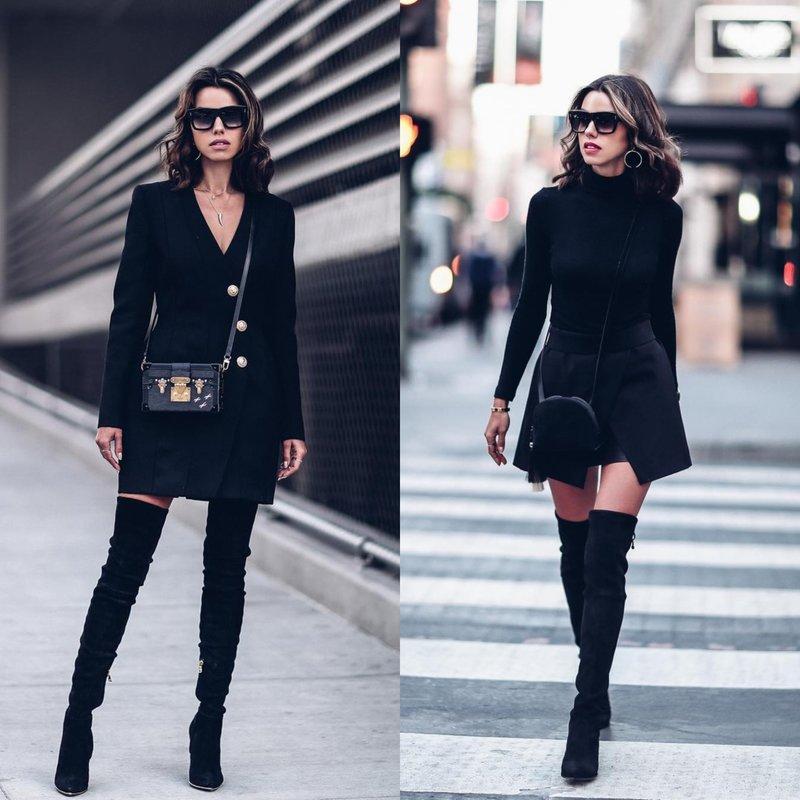 Stilingi drabužiai juodai