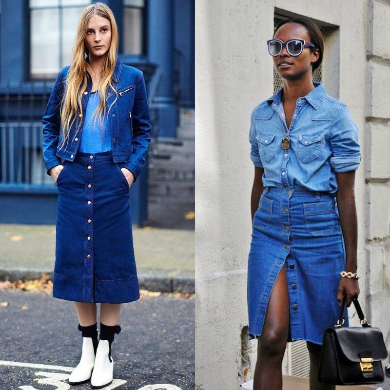 Džinsiniai sijonai