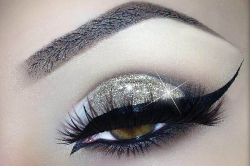 Oosterse make-up voor groene ogen