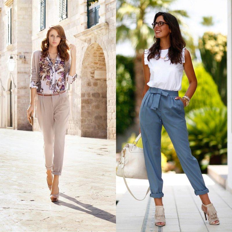 Madingi modeliai pavasarinės kelnės