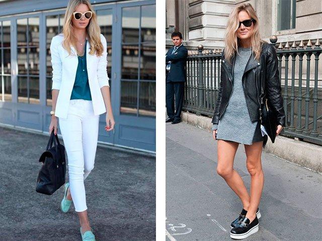 Instappers met korte broek en broek