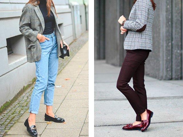 Instappers met broek en jeans