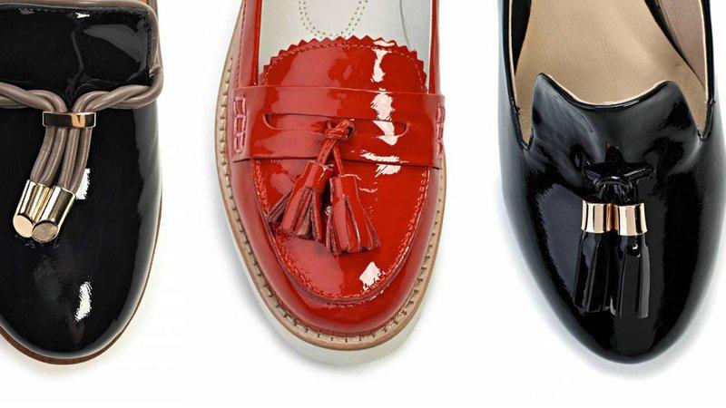 Loafers met lak