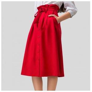 Midi sijonas raudonas