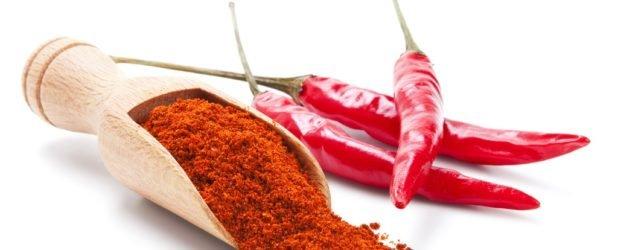 Rode peper voor maskers