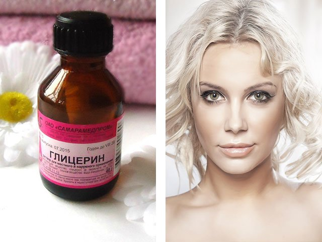 Masker met glycerine voor haarrecepten