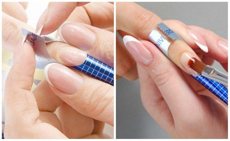 Application de gel sur un ongle naturel