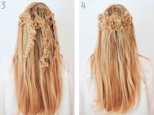 Kaip padaryti gražias šukuosenas, kai jos plaukai laisvi