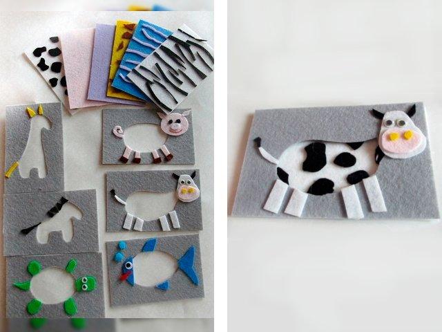 Bricolage jouets en feutre avec des motifs pour les débutants