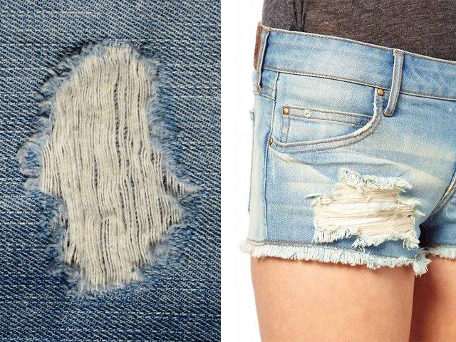 Hoe gaten en krassen te maken op jeans?