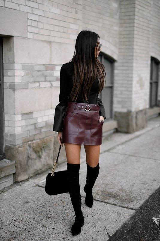 Stijlvolle rok met een lichte sweater