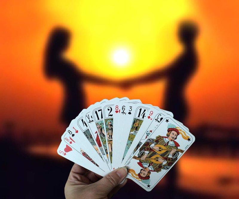 Waarzeggerij op speelkaarten