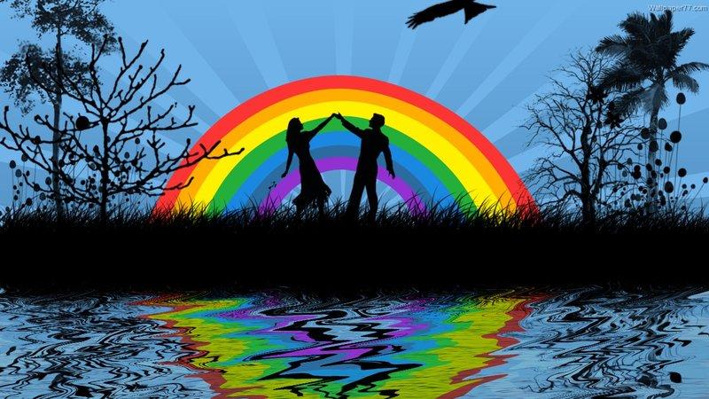 hou van regenboog plot