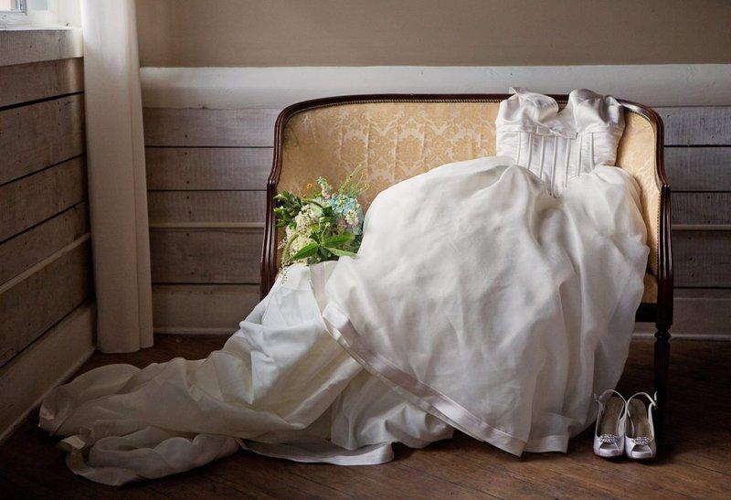 Het plot voor een trouwjurk