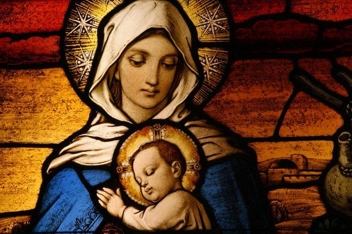 De droom van de Heilige Maagd Maria een wonderbaarlijk gebed voor alle redding