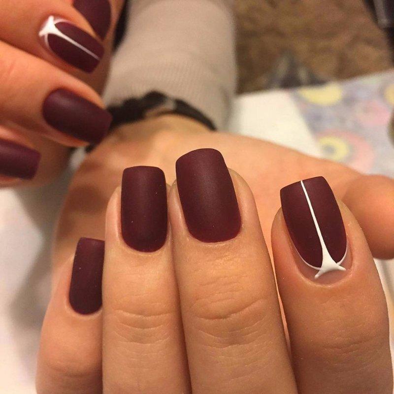 Elegante matte nagels