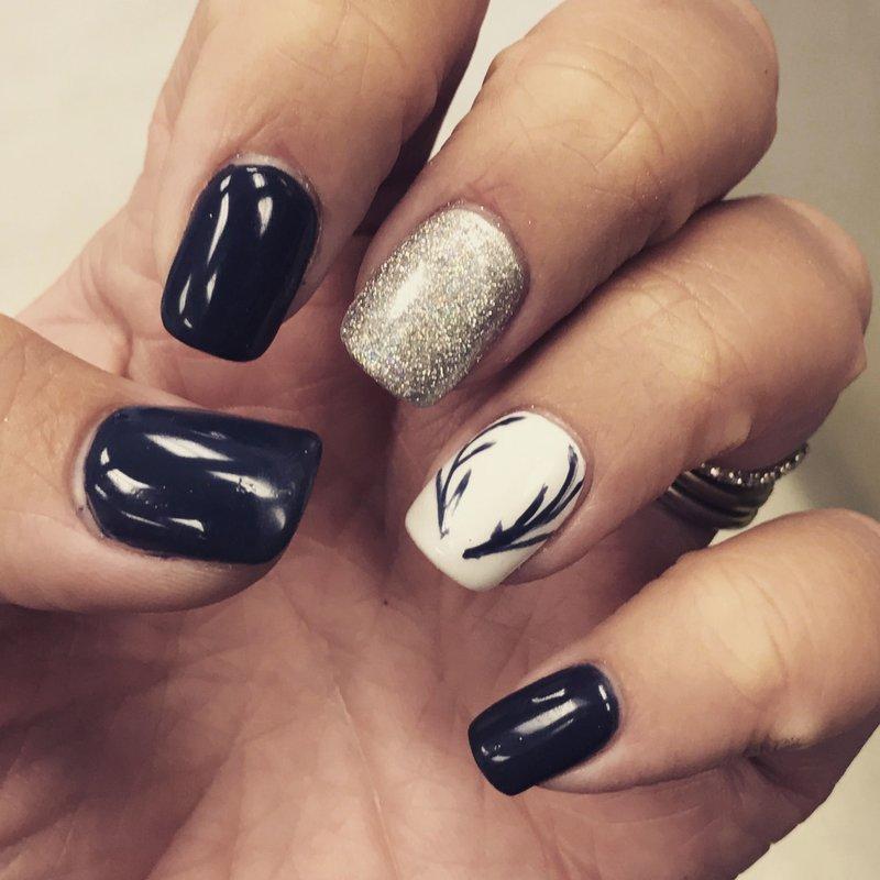 Rendieren hoorns nail art