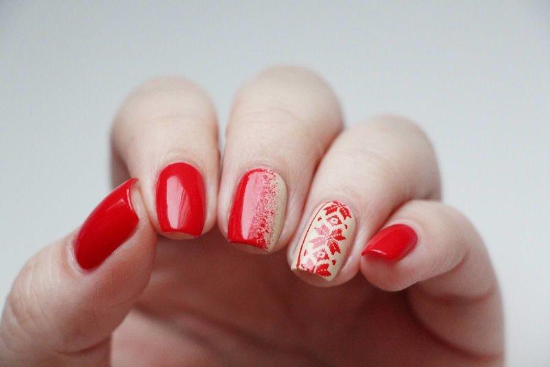 Rode Kerst manicure