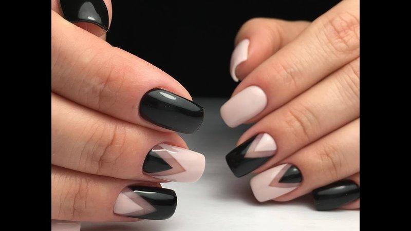 Nagelkunst - zwart-witte geometrie