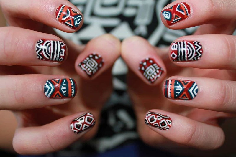 Nail Art Ethnique Automne