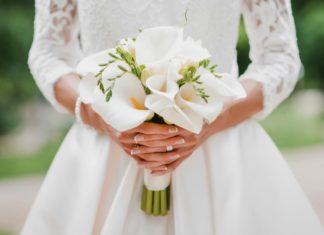 Manucure de mariage à la mode