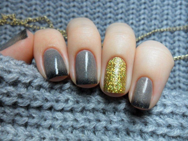 Glitter grijze thermische vernis