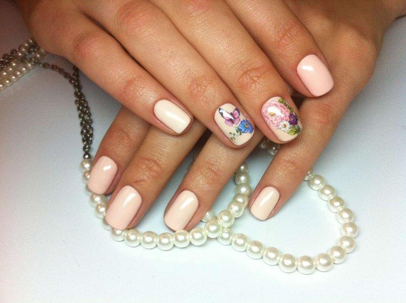 Floral nagel nagels
