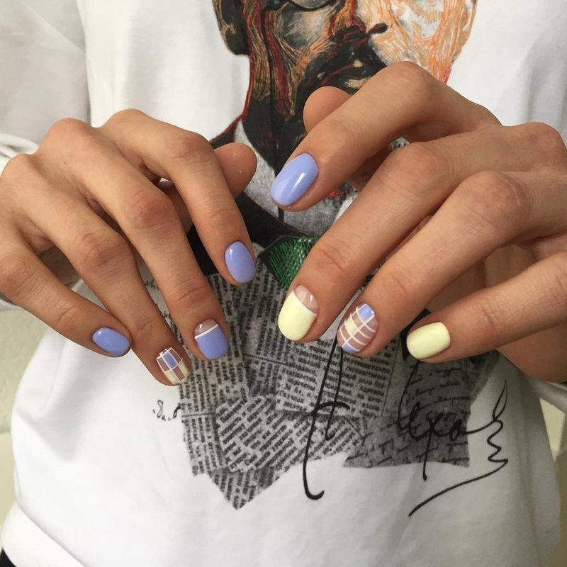 Zachte kleur manicure