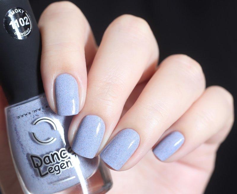 Zachte lila manicure